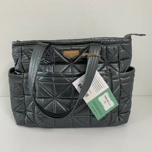 TWELVElittle Carry Love Tote Pewter NWT Quilted Ba